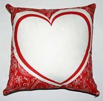 cuscino cuore bianco emmegrafica