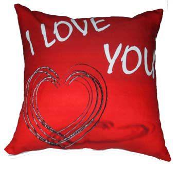 cuscino rosso ti amo emmegrafica