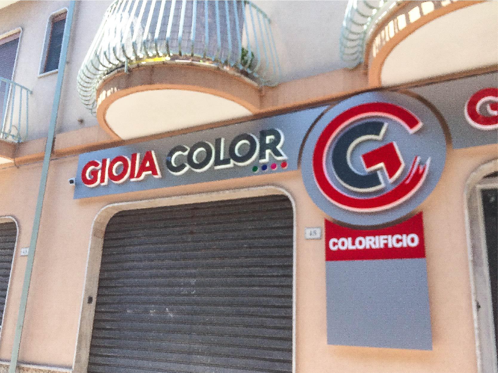 Emmegrafica realizzazione insegna per Gioia Color